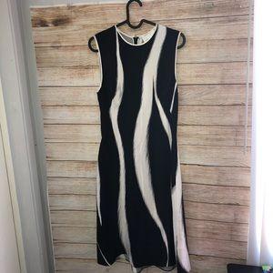 3.1 Philip Lim Black & White Silk Sleeveless Dress